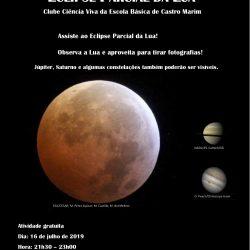 Sessão de Astronomia Eclipse Parcial da Lua – dia 16 de julho de 2019