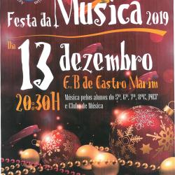 INFORMAÇÃO: Festa da Música a realizar no Agrupamento Escolas Castro Marim