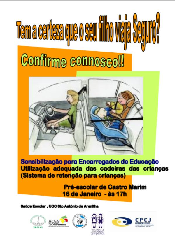 Sensibilização para Encarregados de Educação – 16 de janeiro de 2020 às 17h.